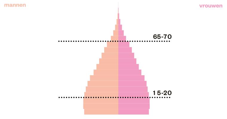 bevolkingspyramide toren