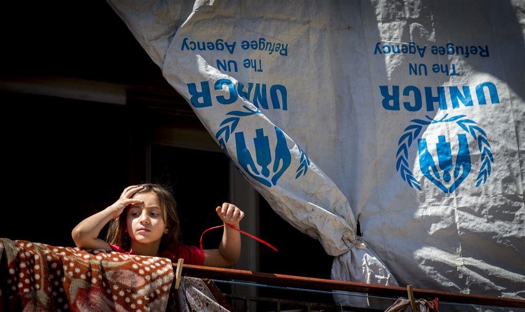 Koenders bezoekt vluchtelingenkamp met Syrische vluchtelingen