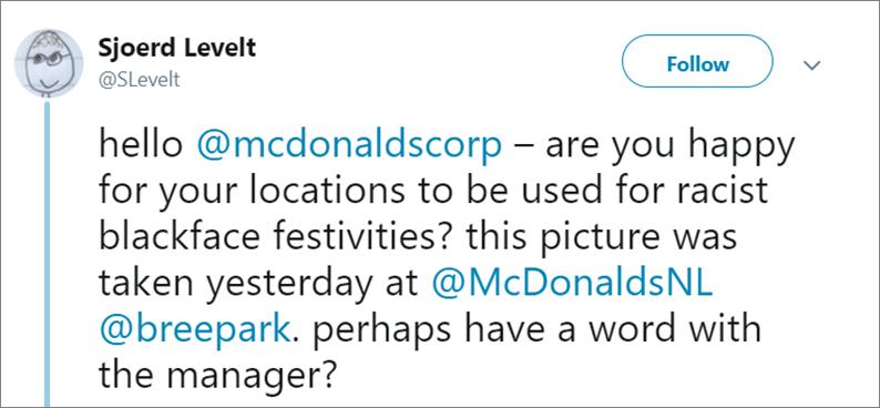 screenshot tweet Sjoerd Levelt