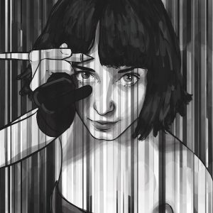 Sharpening selfportrait