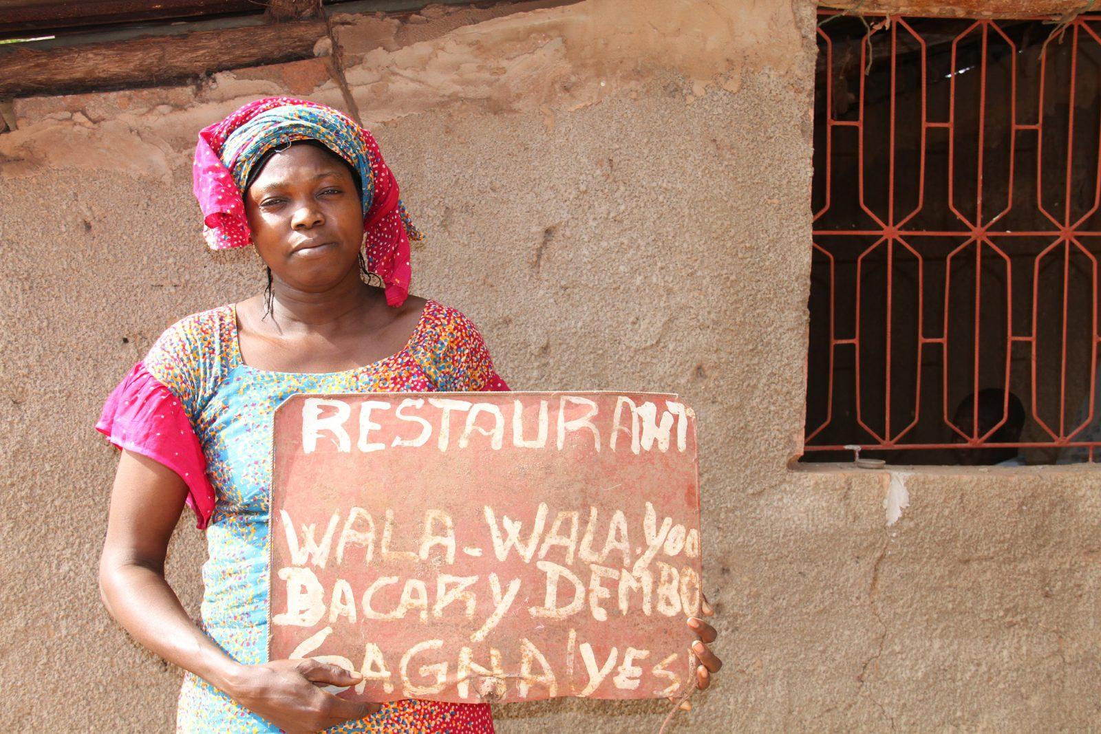 Fatou Ngone houdt de naam van het restaurant hoog