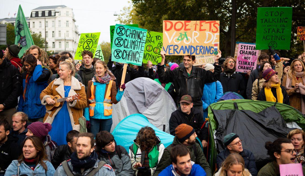Extinction Rebellion-demonstranten