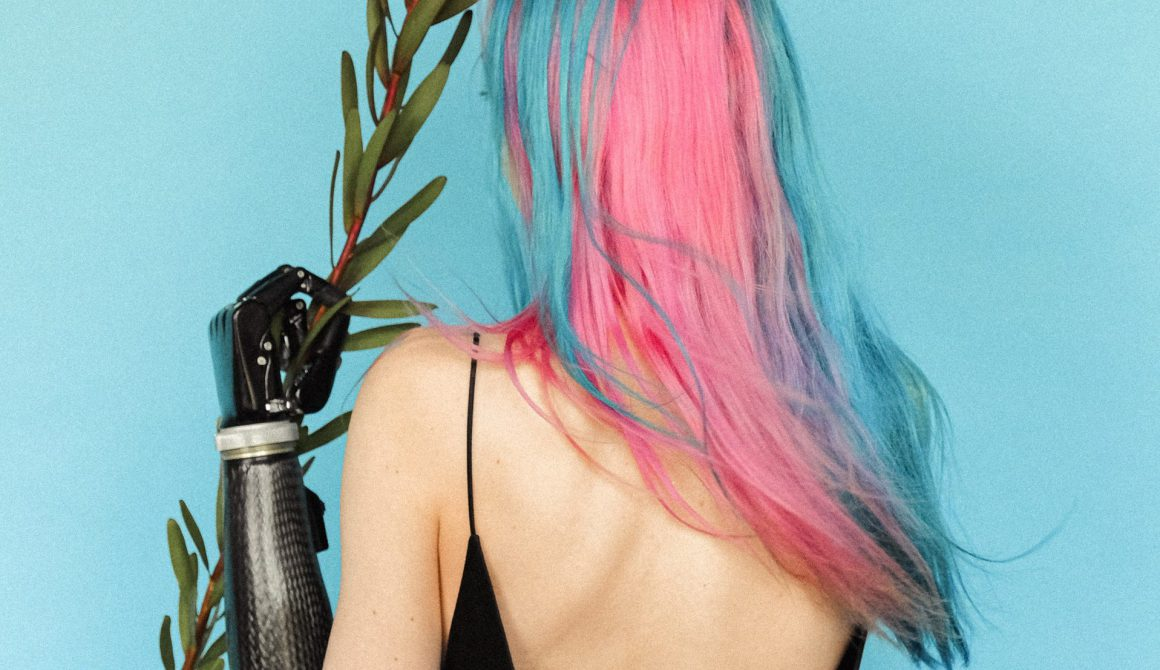 woman-in-black-spaghetti-strap-dress-with-pink-and-blue-hair-3732691