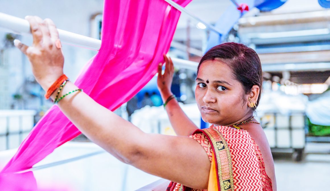 Portrait of a Female Indian Factory Worker